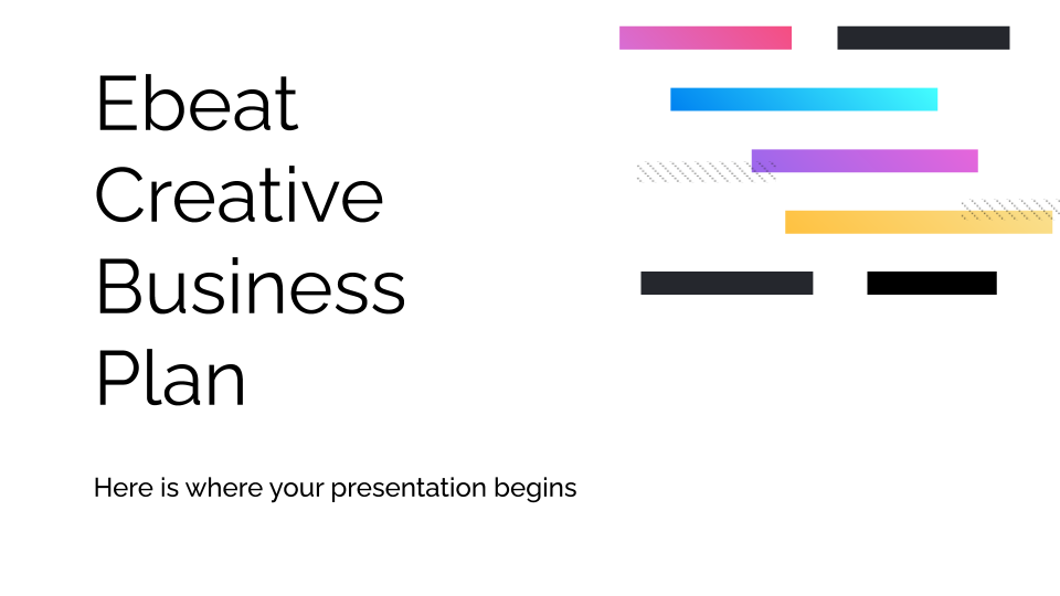 Ebeat Creative Business Plan presentation template