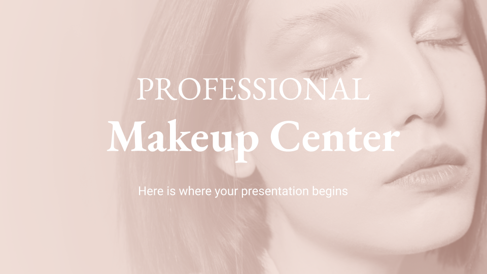 Modelo de apresentação Estúdio de maquiagem profissional