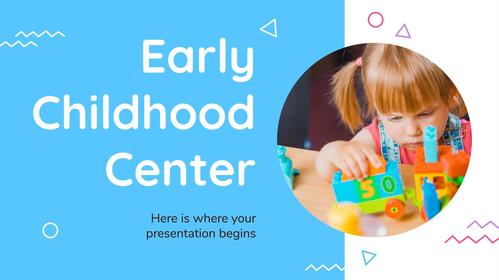 Plantilla de presentación Centro de educación infantil