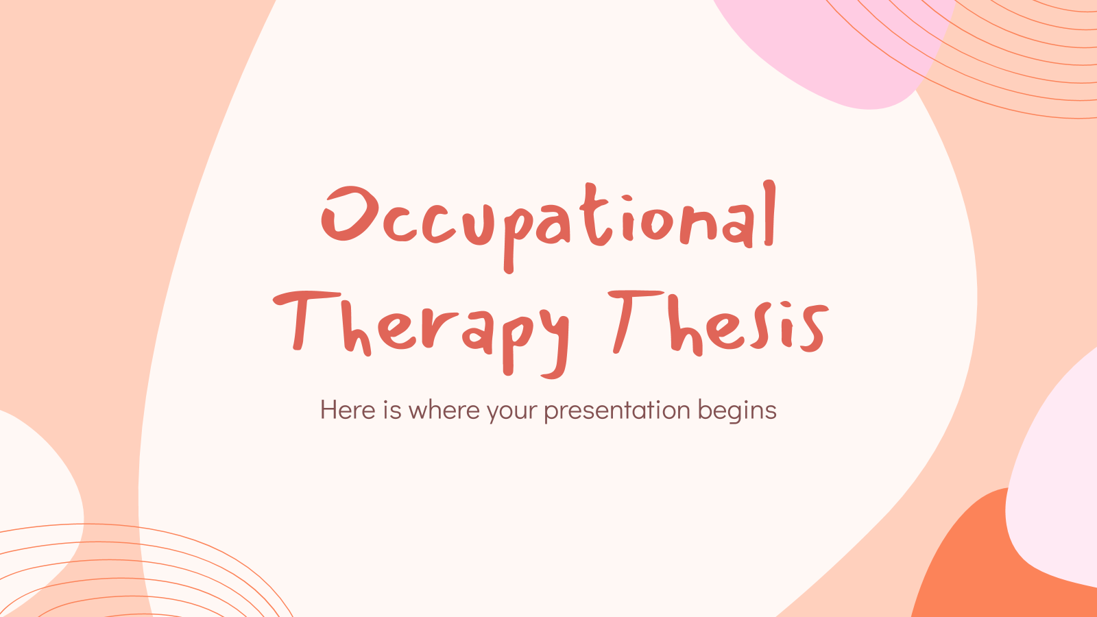 Occupational Therapy Thesis presentation template
