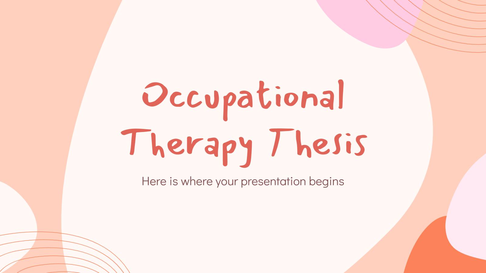 Modelo de apresentação Trabalho de terapia ocupacional