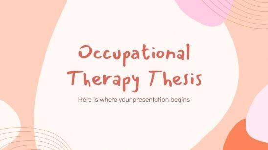 Plantilla de presentación Tesis sobre terapia ocupacional