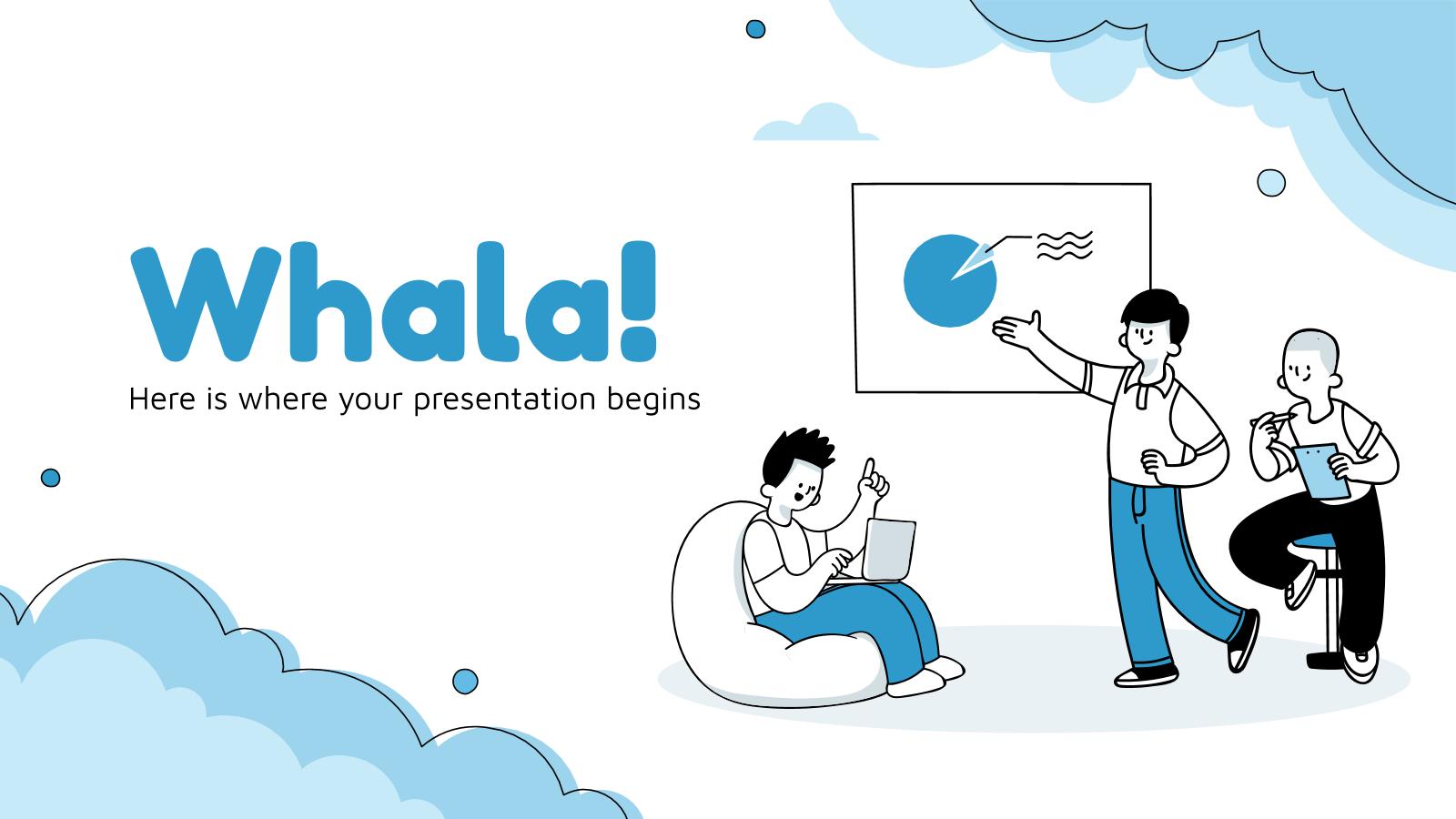 Plantilla de presentación ¡Whala!