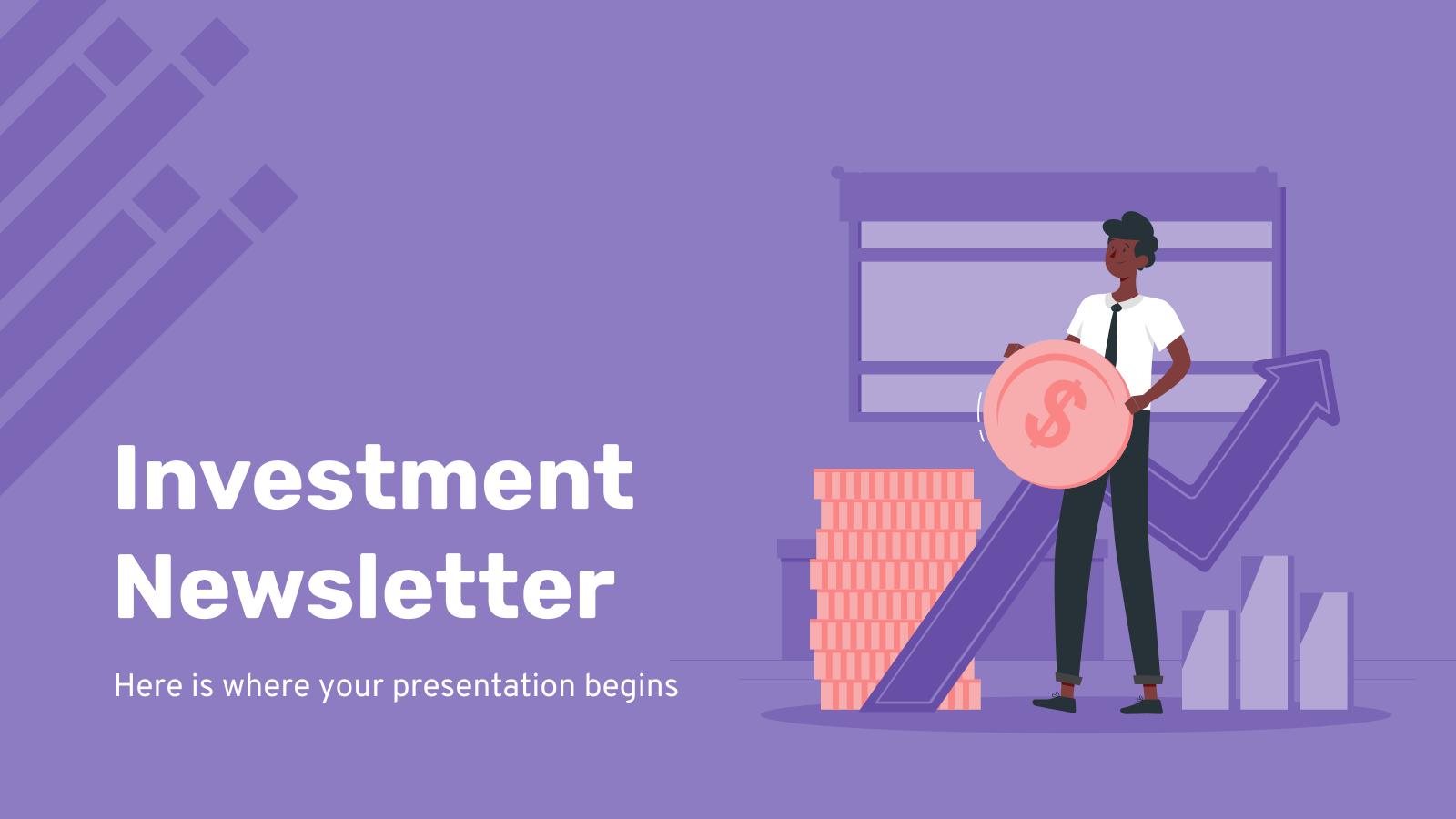 Investment Newsletter presentation template