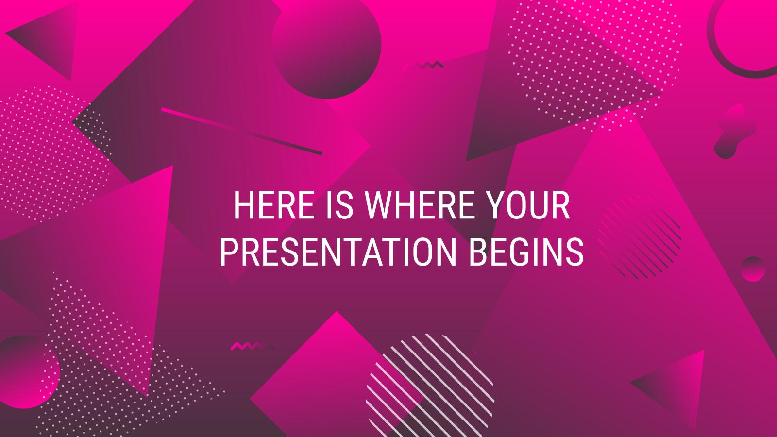 Geometric Gradient presentation template