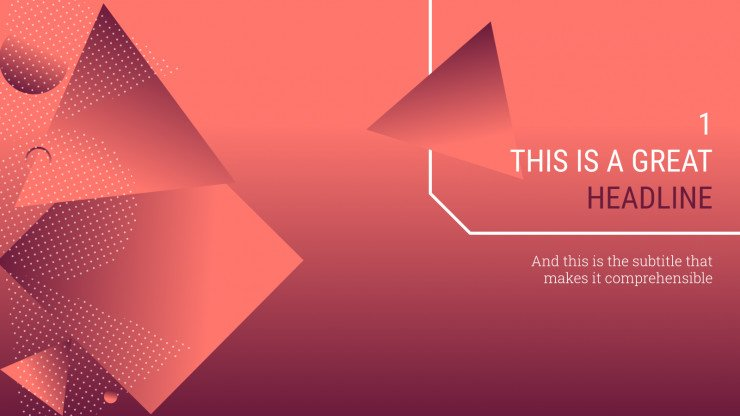 Geometric Gradient presentation template