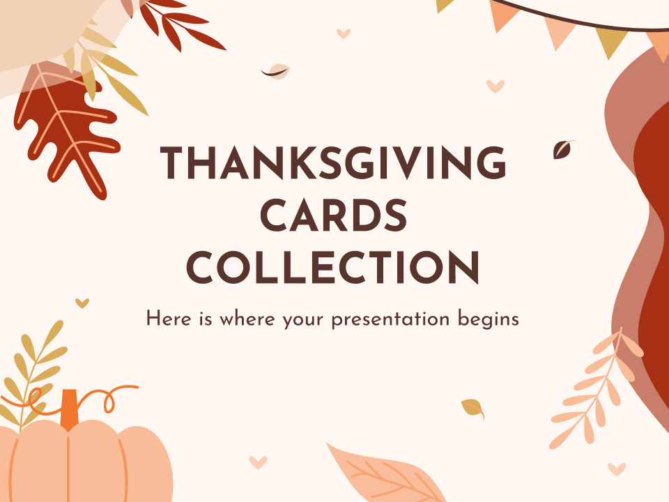 Collection de cartes de Thanksgiving : Modèles de présentation