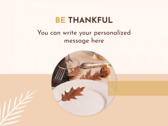 Plantilla de presentación Tarjetas de Acción de Gracias