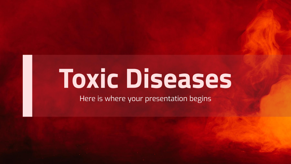 Toxic Diseases presentation template