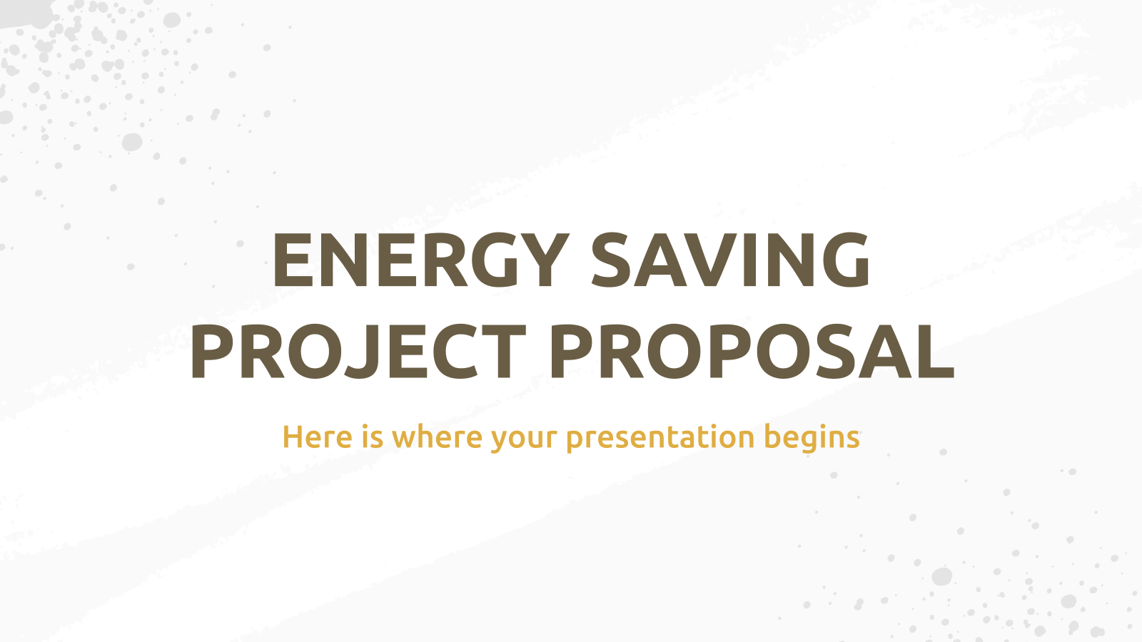 Energy Saving Project Proposal presentation template