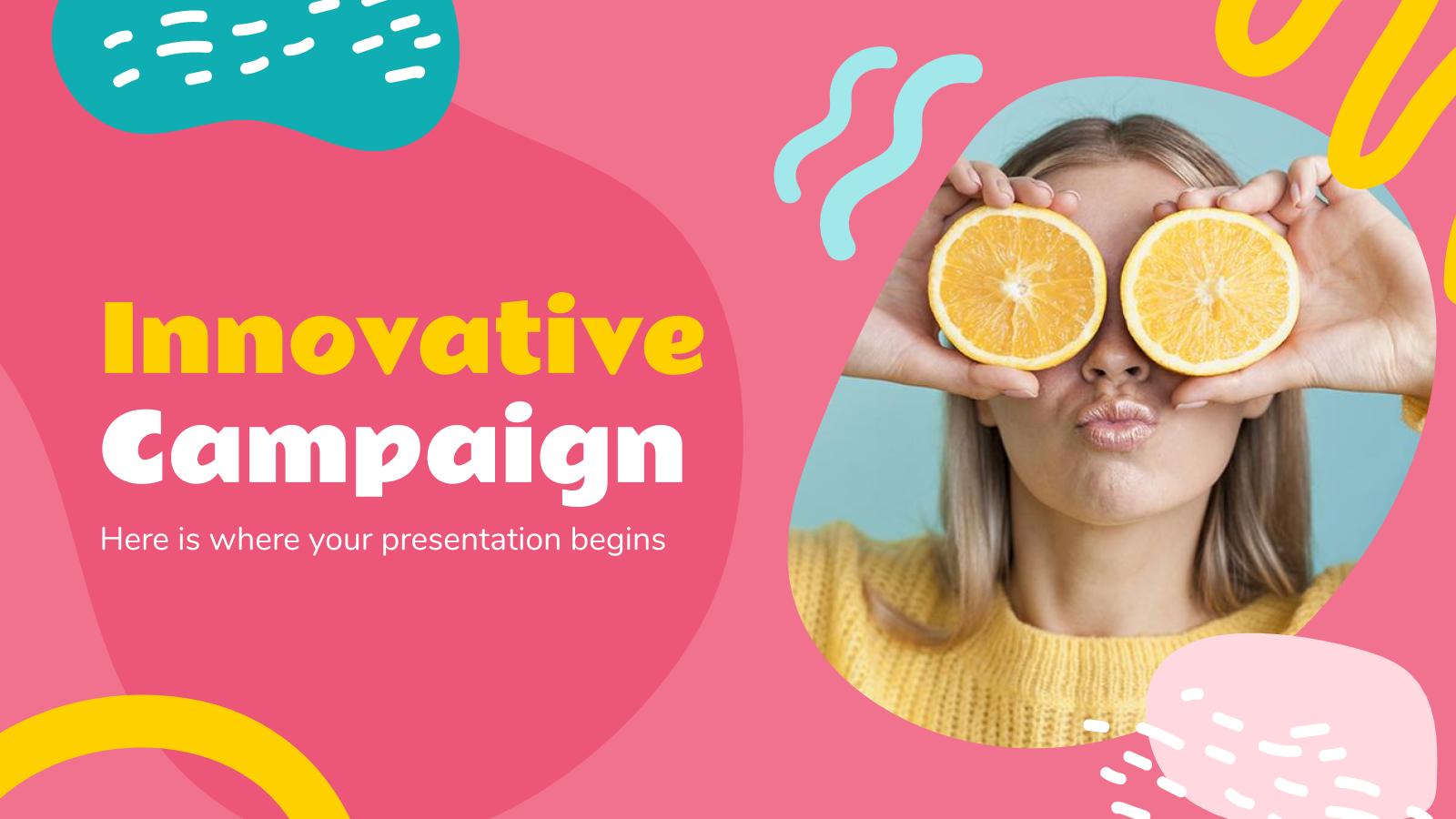 Modelo de apresentação Campanha inovadora