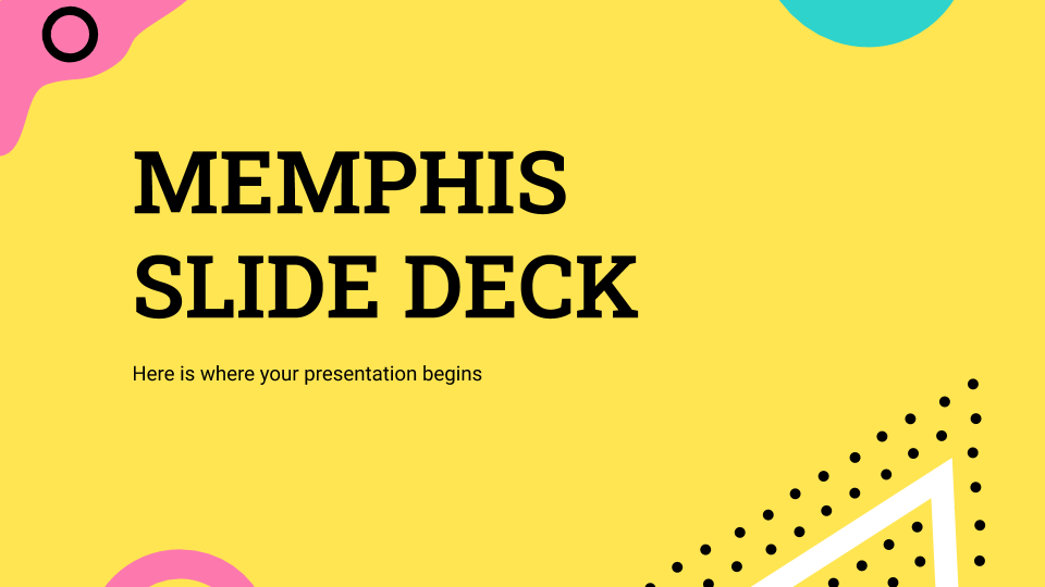 Memphis Slide Deck presentation template