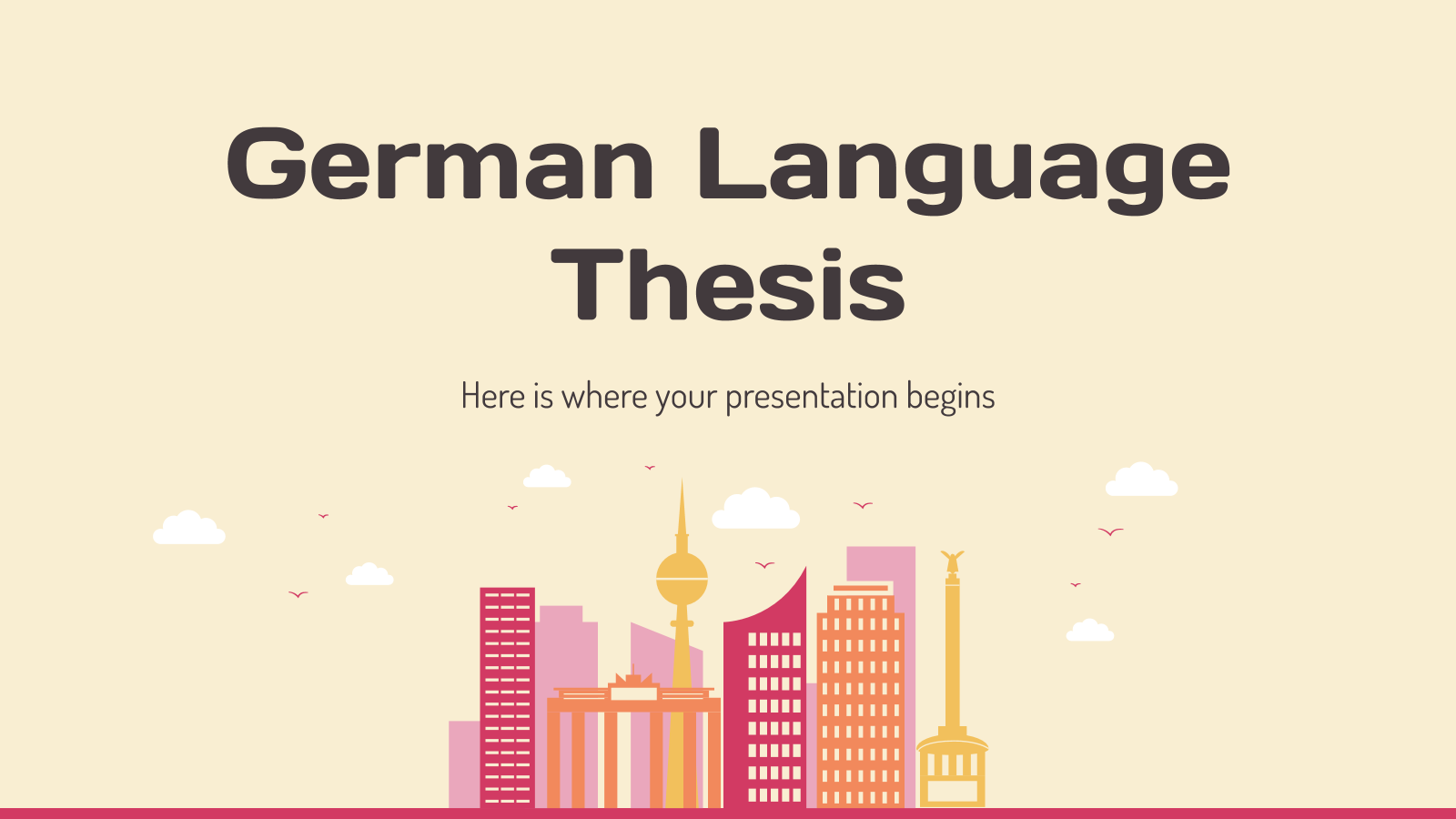 German Language Thesis presentation template