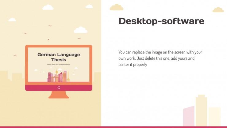 German Language Thesis presentation template