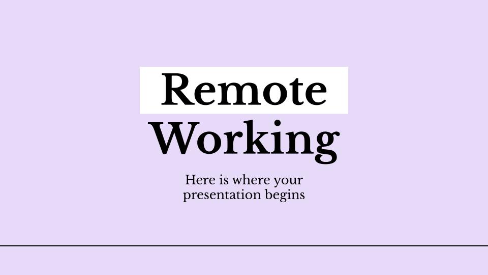 Plantilla de presentación Trabajo en remoto
