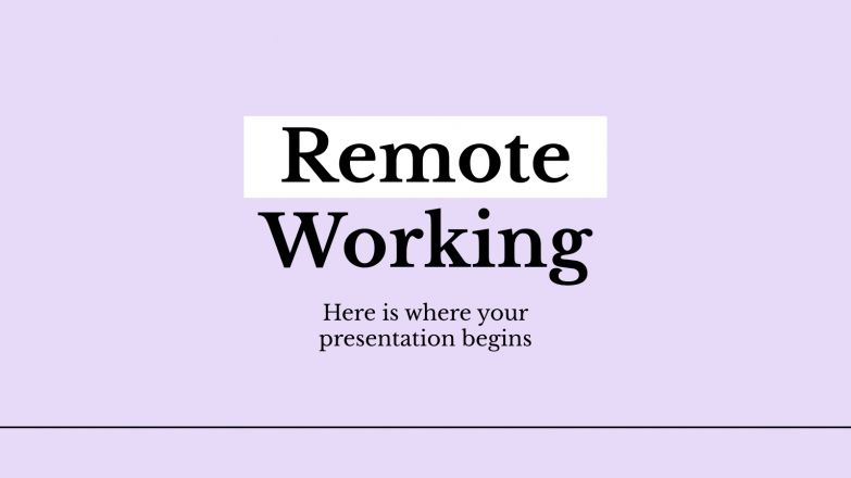 Remote Working presentation template