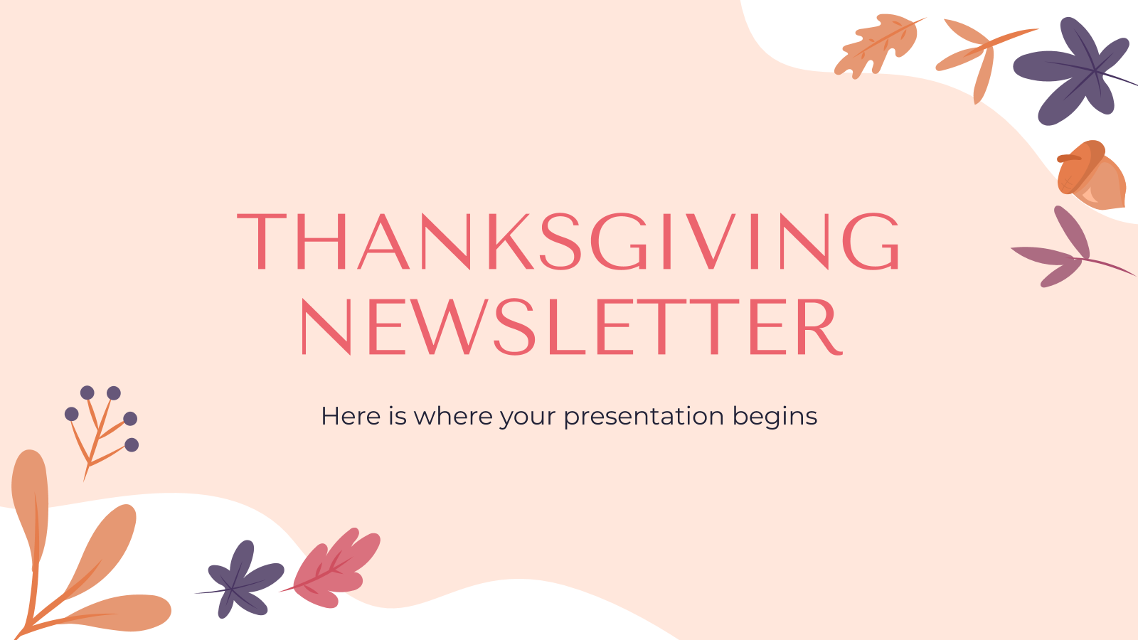 Thanksgiving Newsletter presentation template