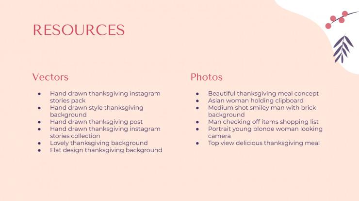 Thanksgiving-Newsletter Präsentationsvorlage