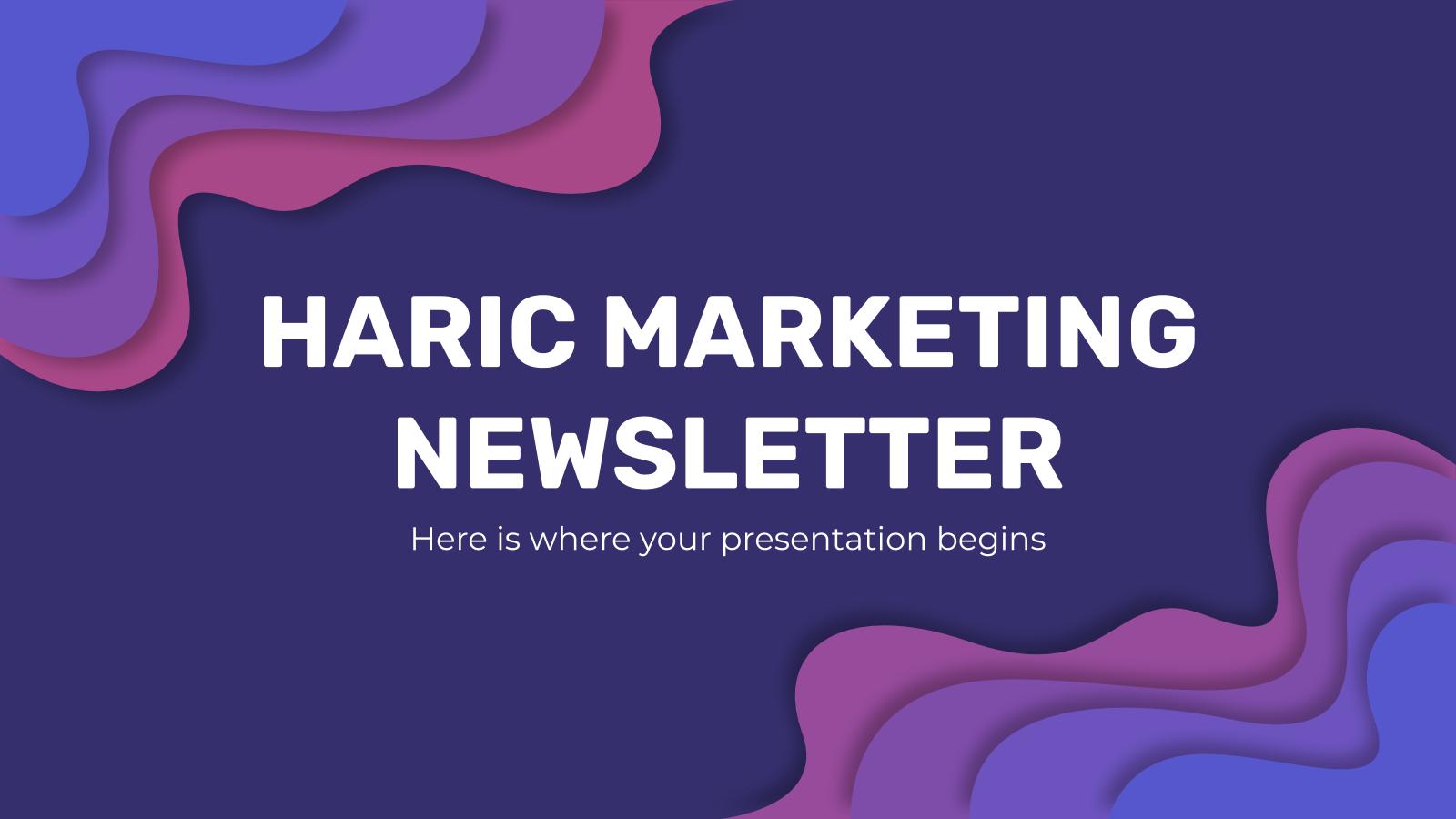 Newsletter Haric : Modèles de présentation