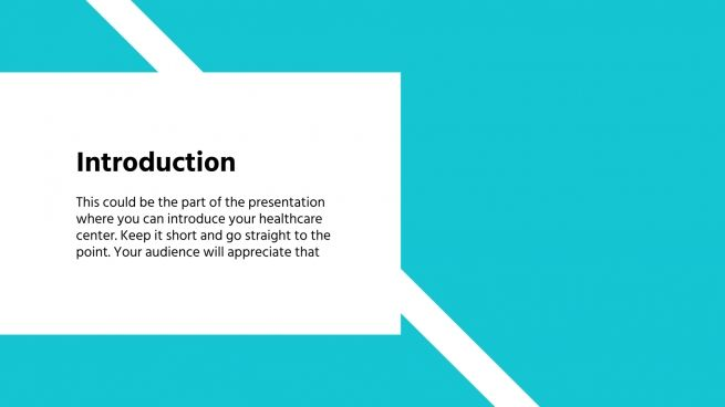 Diadicine Health Center presentation template