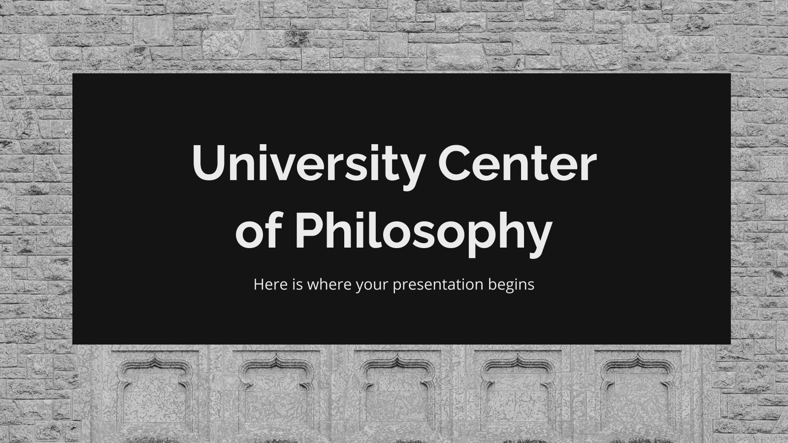 University Center of Philosophy presentation template