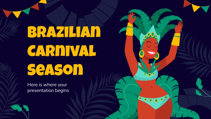 Brazilian Carnival Season presentation template