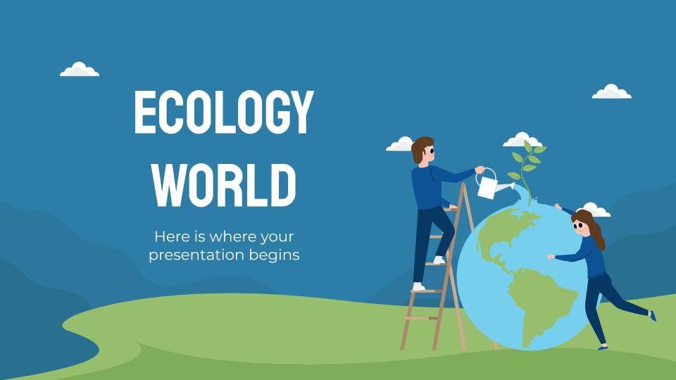 Plantilla de presentación Un mundo ecológico
