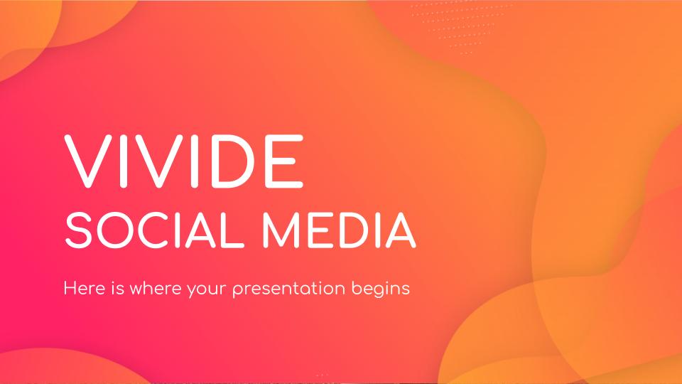 Modelo de apresentação Mídia social Vivide