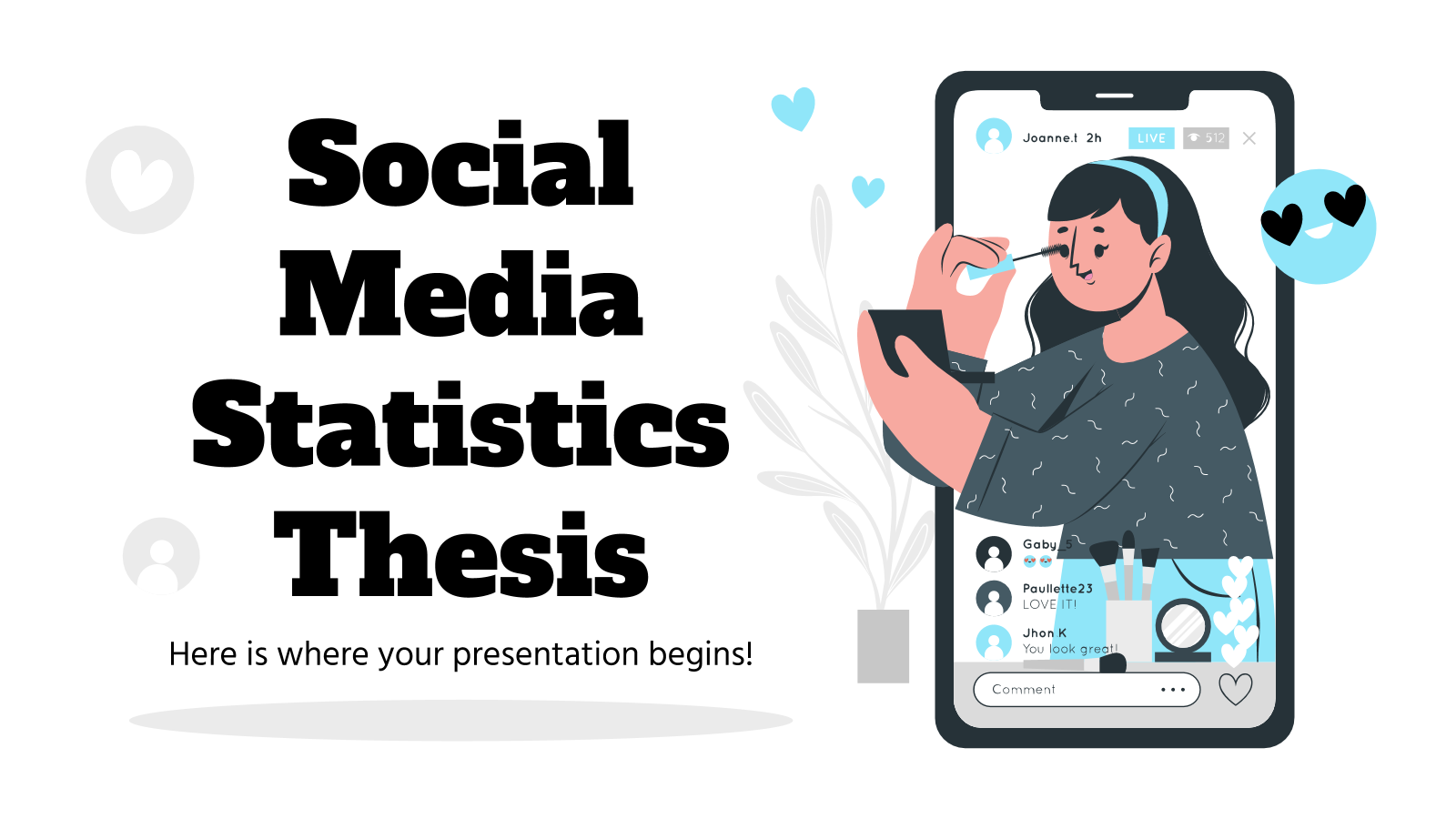 Social Media Statistics Thesis presentation template