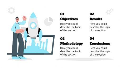 Plantilla de presentación Tesis sobre redes sociales
