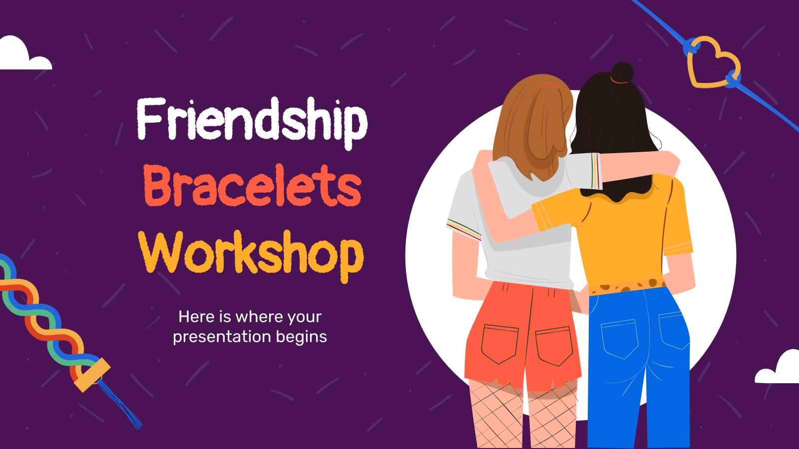 Atelier sur les bracelets de l'amitié : Modèles de présentation