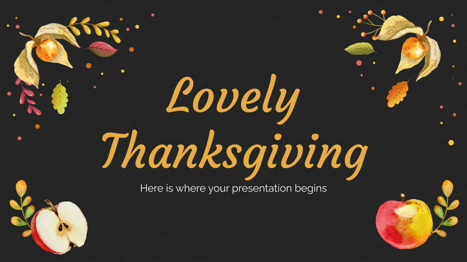 Lovely Thanksgiving presentation template