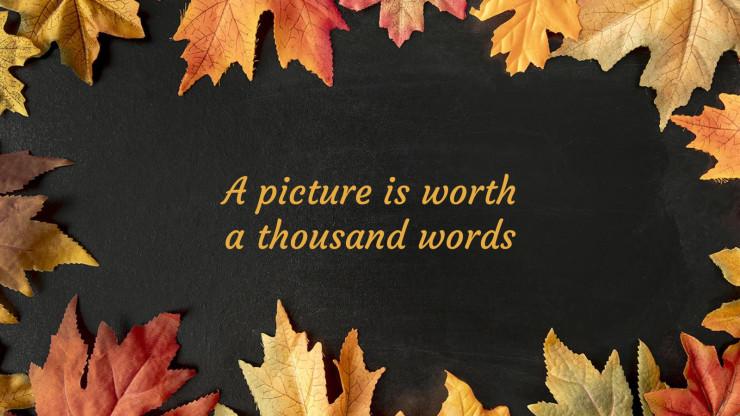 Modelo de apresentação Adorável Ação de Graças