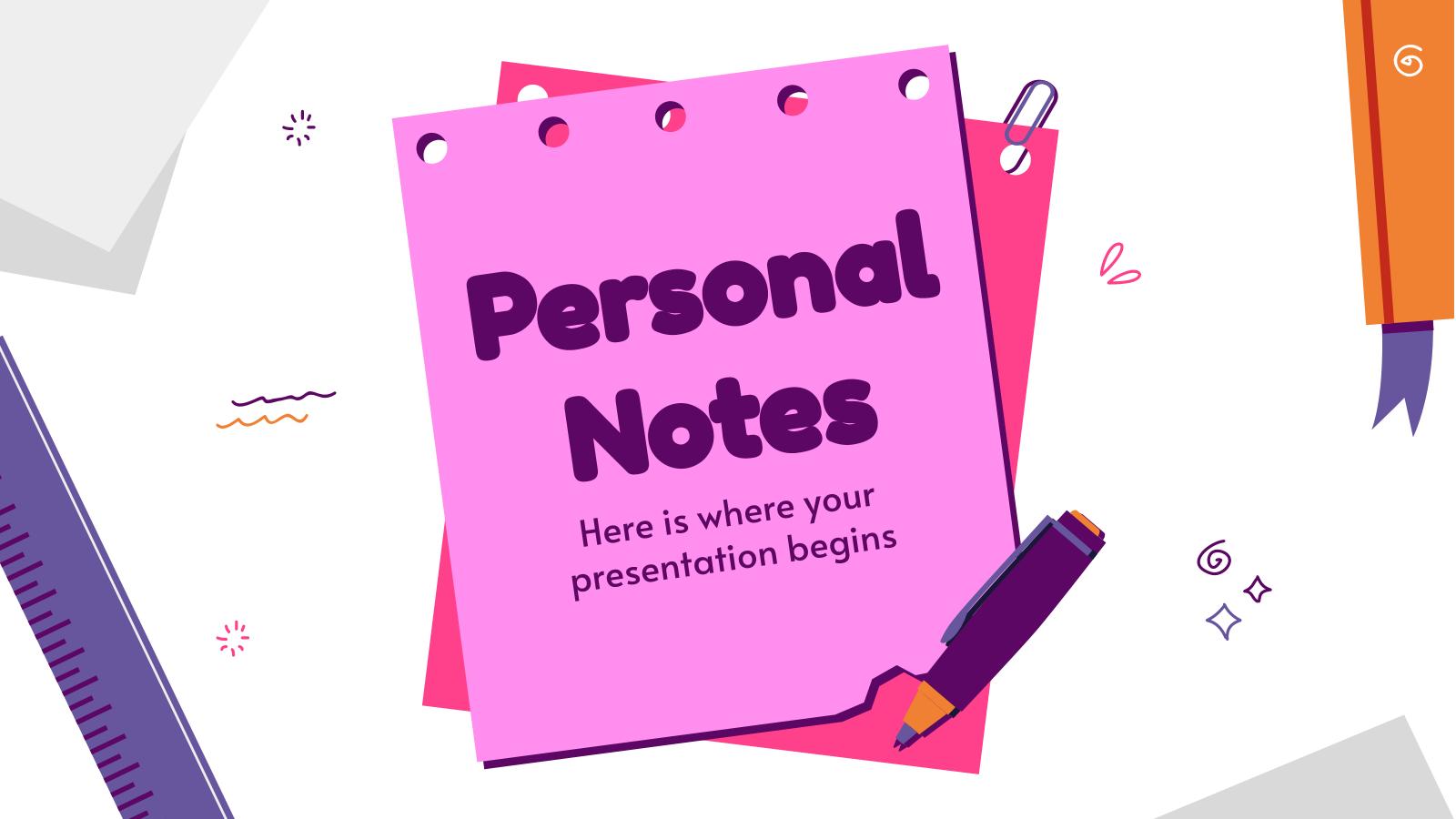 Plantilla de presentación Notas para profesores