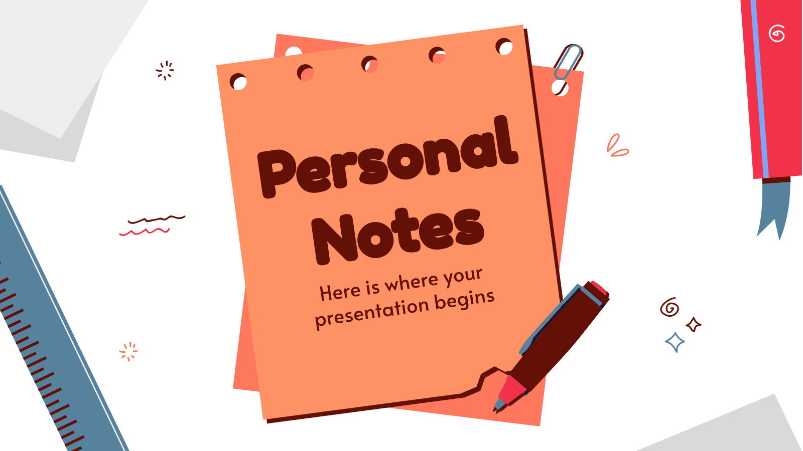 Personal Notes - Teacher Appreciation Week presentation template