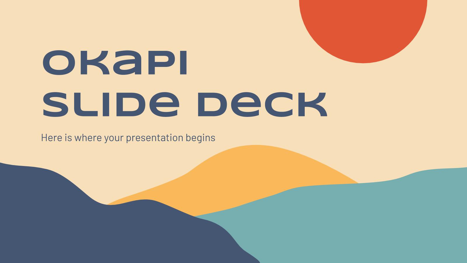 Plantilla de presentación Diapositivas okapi