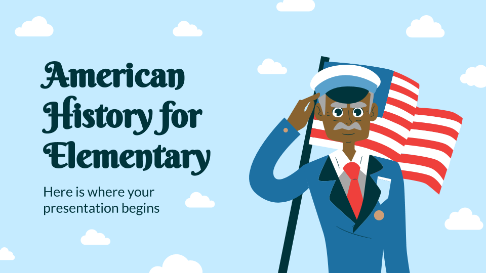 American History for Elementary presentation template