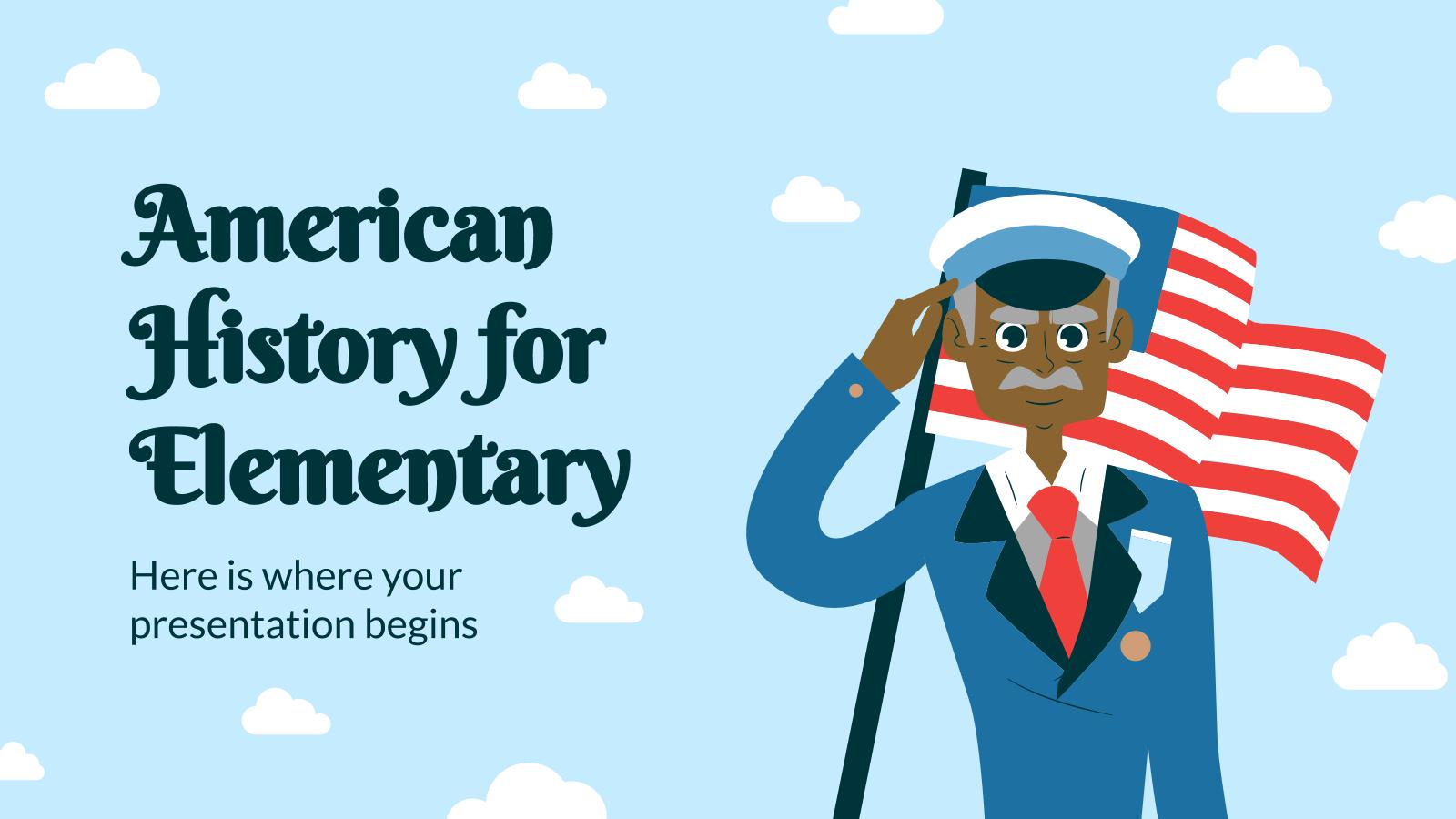 Plantilla de presentación Clase de historia de los EE. UU.