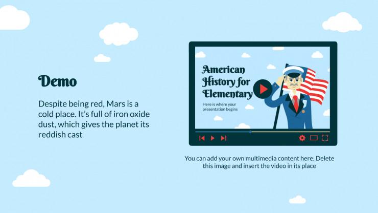 Amerikanische Geschichte für Grundschüler Präsentationsvorlage