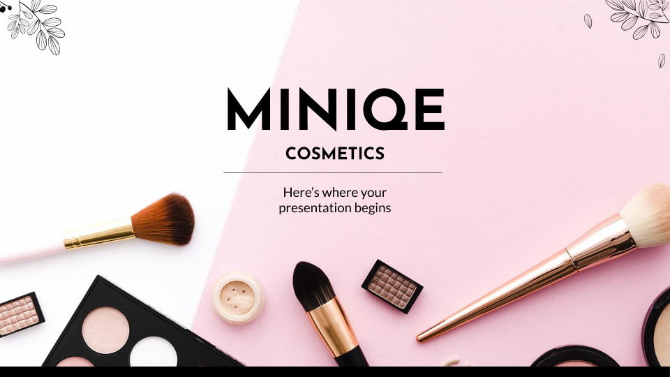 Miniqe Cosmetics presentation template