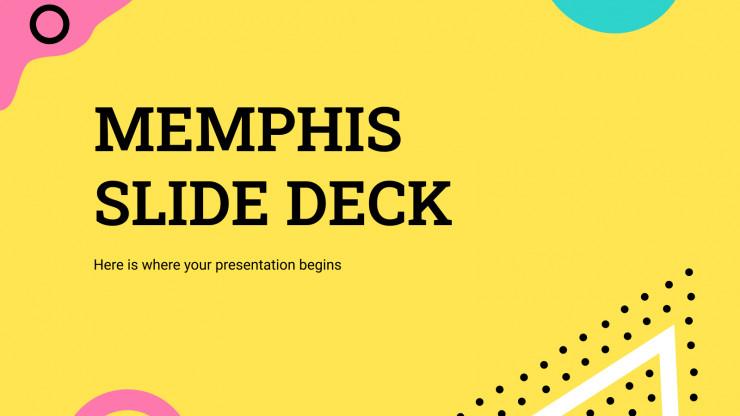 Plantilla de presentación Diapositivas Memphis