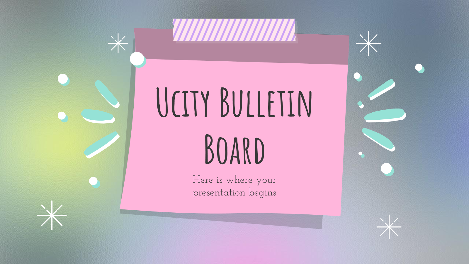 Ucity Bulletin Board presentation template