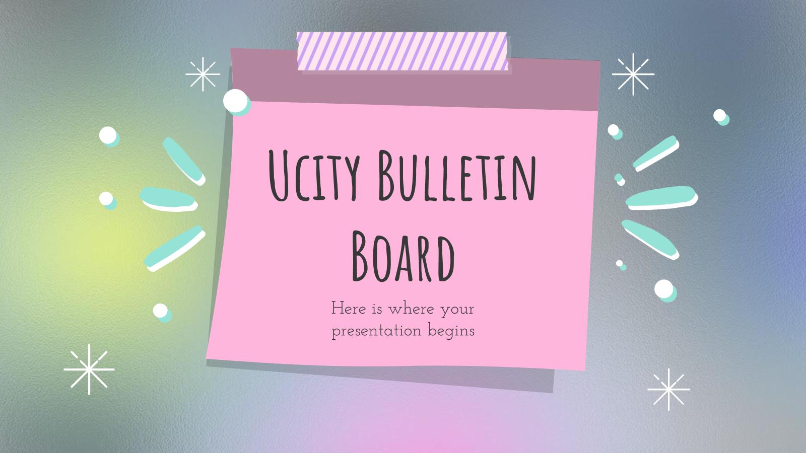 Modelo de apresentação Quadro de anúncios Ucity