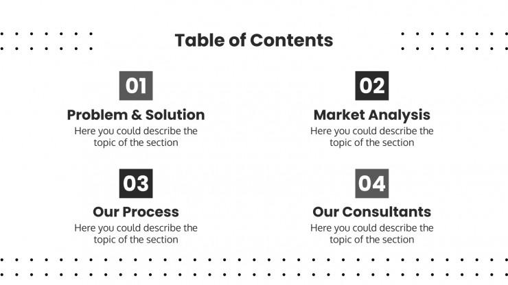 Plantilla de presentación Consultores para proyectos