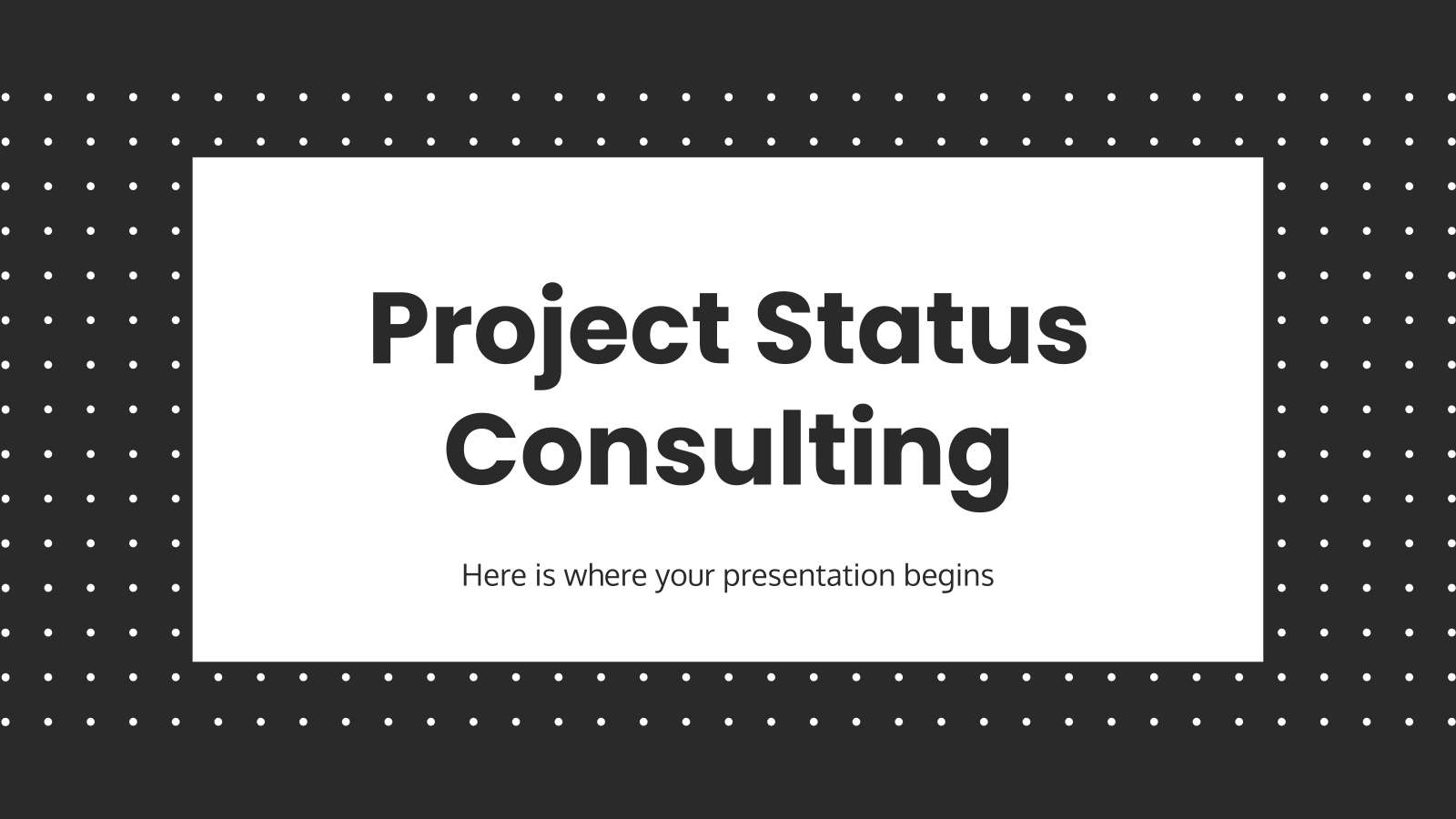 Project Status Consulting presentation template