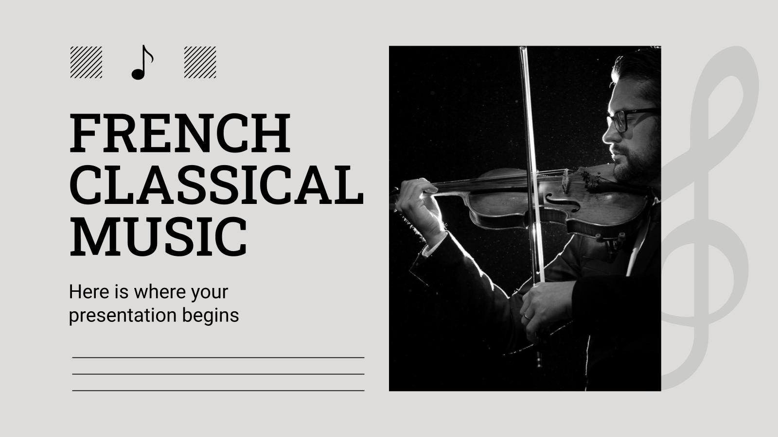 Plantilla de presentación Música clásica francesa