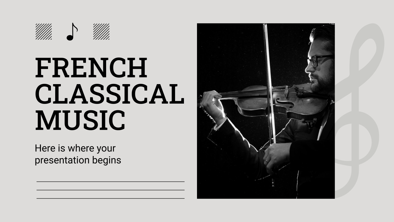 French Classical Music presentation template