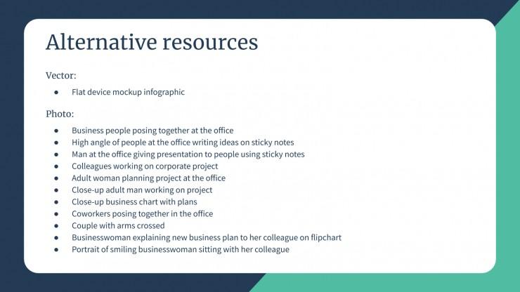 Notes pour s'organiser en affaires : Modèles de présentation