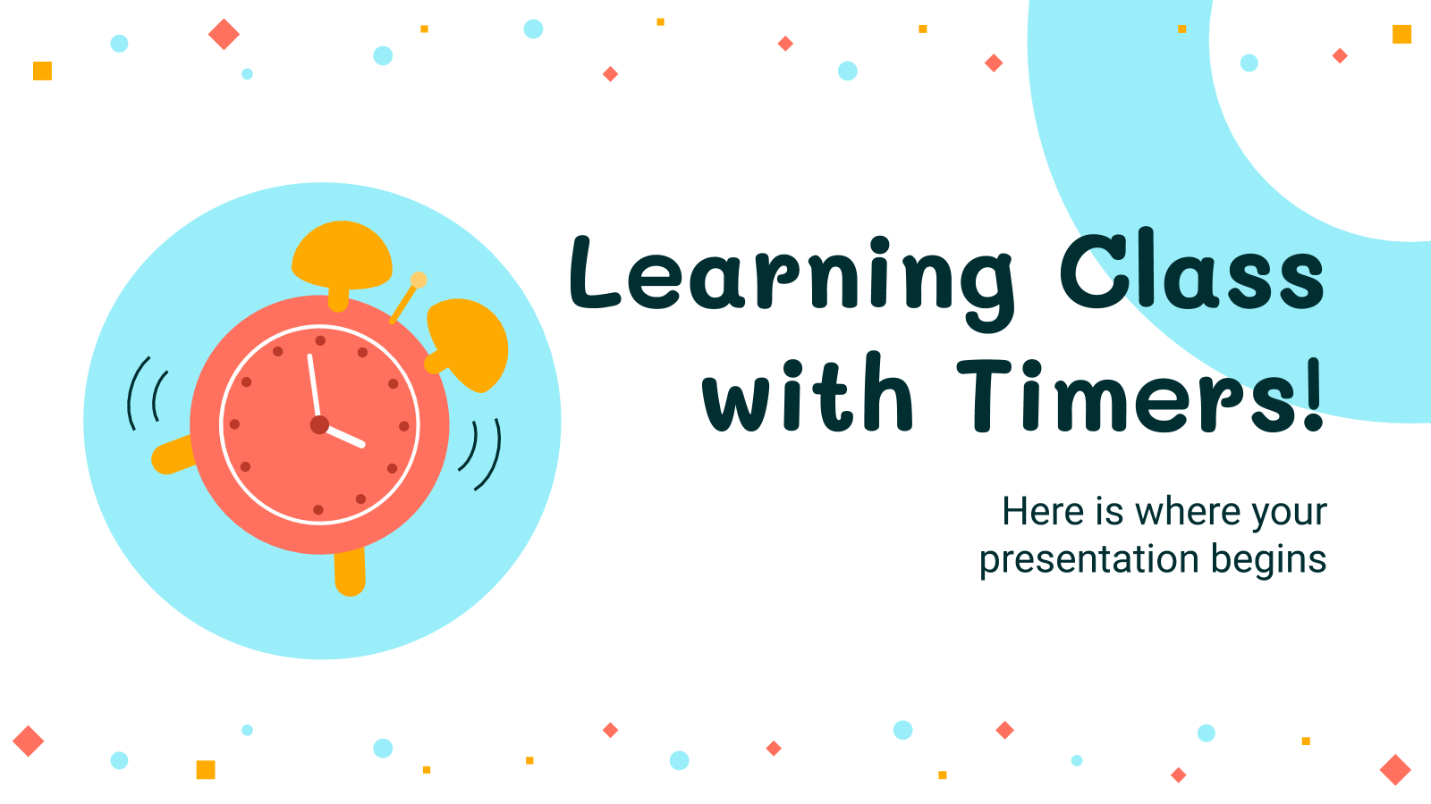 Learning Class with Timers! presentation template