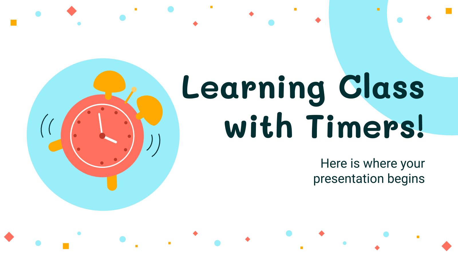 Exercices chronométrés : Modèles de présentation